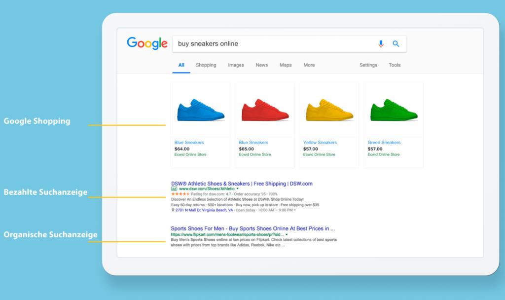 Google-Shopping-Anzeige