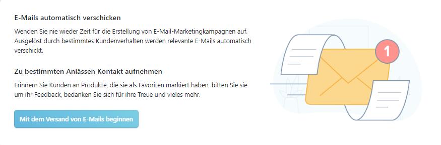 Automatisierte Mailings MyCOMMERCE Konto