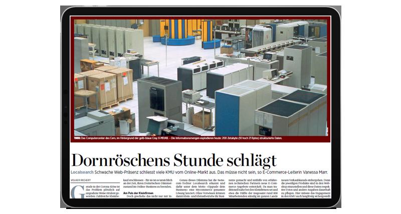 MyCOMMERCE spiega nella Handelszeitung come le PMI possono trarre vantaggio dal commercio online.
