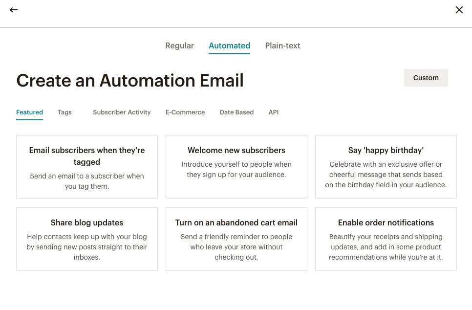 Automatisierung in Mailchimp